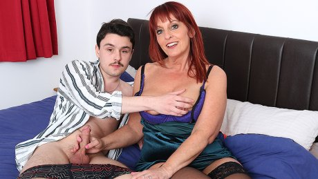 This Cougar Loves To Suck The Cock From Her Toy Boy