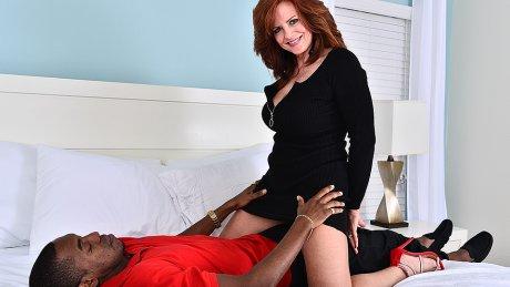 Hot Milf Fucking And Sucking A Big Black Cock