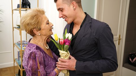 Naughty Granny Gets A Visit From Her Toy Boy