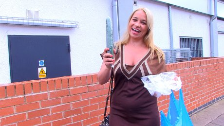 Naughty Olga Went Shopping For Veggies But Not For Eating