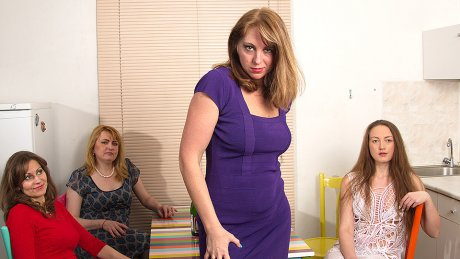Four Naughty Housewives Explore Their Lesbian Desires