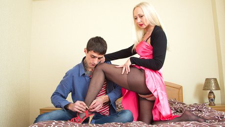 Naughty Milf Playing With Her Toy Boy