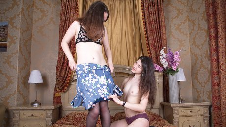 Horny mom seduces young girlfriend