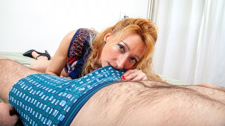 Cougar catching her stepson jerk off