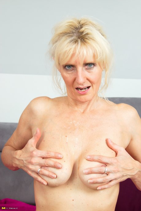 Horny housewife playing with her horny toy boy