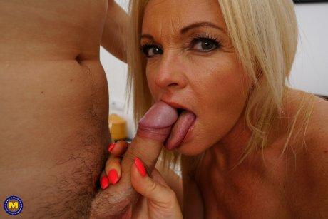 Hot MILF has an affair with a very horny toyboy