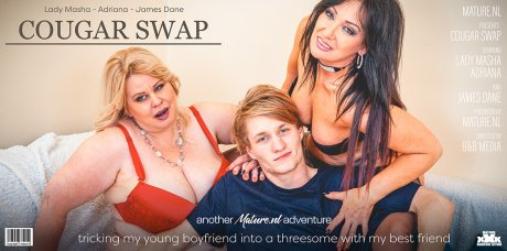 Lets have a Cougar Swap by tricking her young boyfriend into a threesome with her best friend