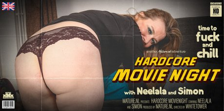 Mature Neelala with her pierced nipples wants to fuck during movienight