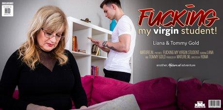 Mature teacher fucks a Virgin student