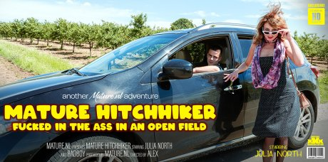 Mature Hitchhicker gets fucked in the ass