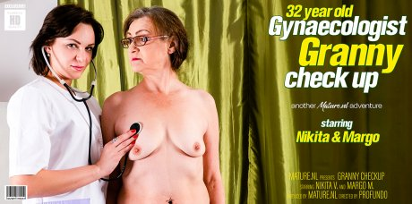 32 year old lesbian gynaecologist is having a granny checkup