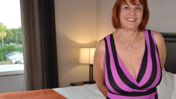 Big Breasted Grandma Fucking A Way Younger Man - presnted by Mature.nl