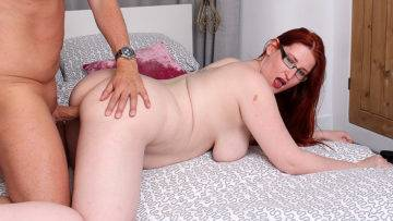 Curvy Red Haired Cougar Fucking And Sucking Her Lover - presnted by Mature.nl