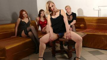 Four Naughty Housewives Go Full Lesbian - presnted by Mature.nl