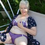 Naughty Granny Playing In The Garden With Her Pussy - presnted by Mature.nl
