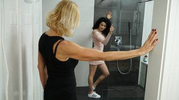 These Horny Old And Young Lesbians Have Great Fun In The Shower - presnted by Mature.nl