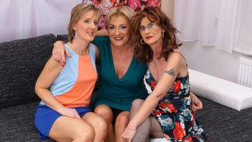 Three Older Ladies Explore Their Sensual Sides - presnted by Mature.nl